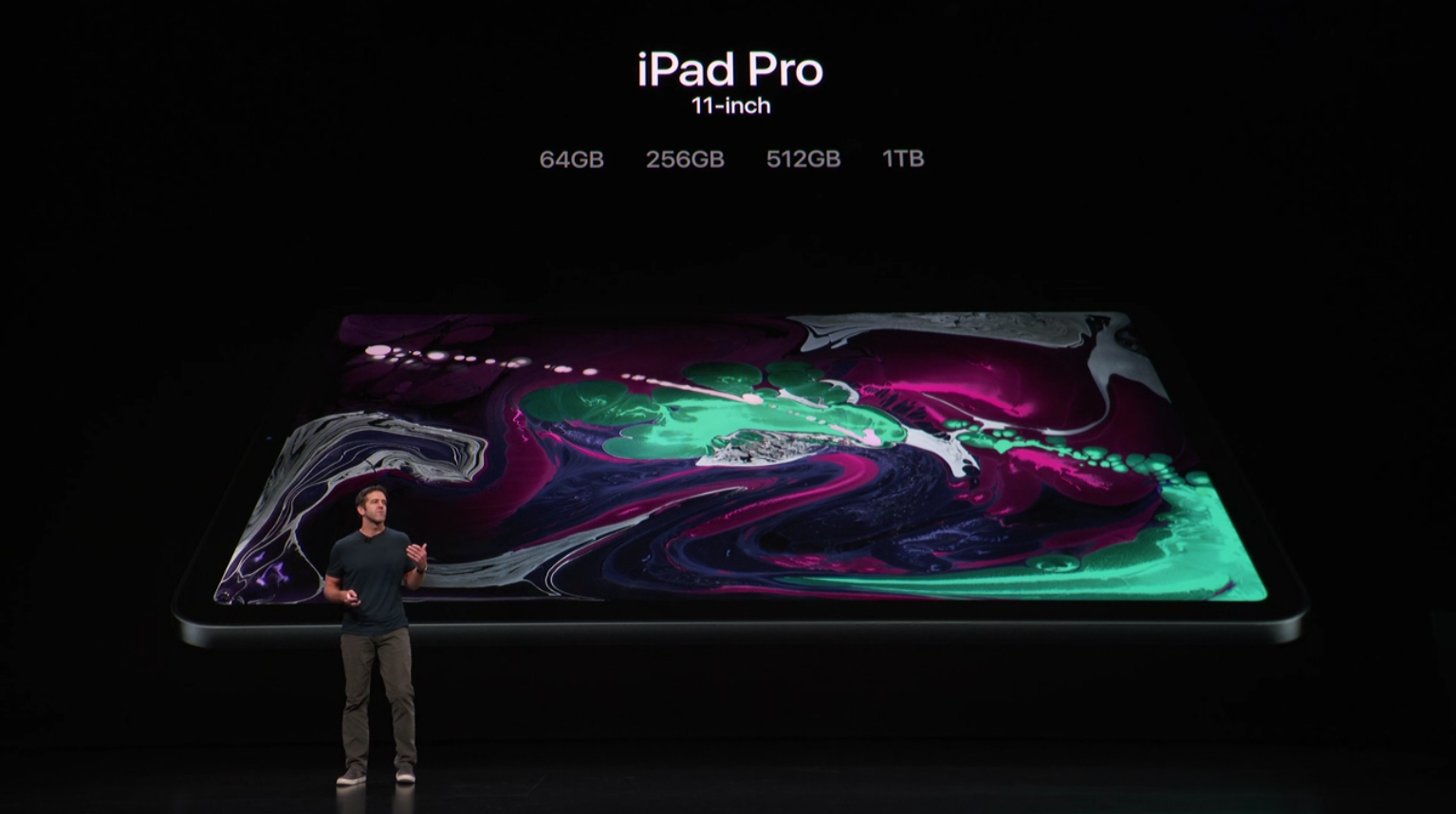 Options de l'iPad Pro. (Source : Événement)